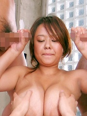 Fuko hardcore action with her gigantic tits bouncing!