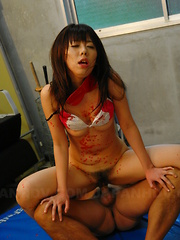 Dirty teacher Maho Sawai gets in bondage sex