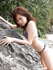 Akiki Sea Asian is absolutely fabulous in different bath suits